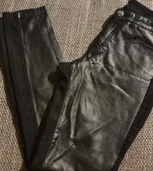 Kožne elastične hlače