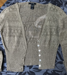 Mango knit metallc exclusive kardigan