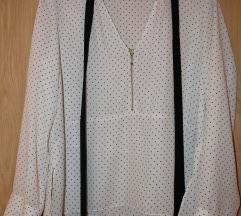 ZARA bijela bluza s točkicama