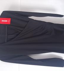 Crna haljina na preklop NOVO