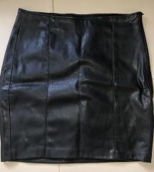 Bershka crna kozna suknja