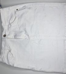 Missguided bijela jeans mini suknja