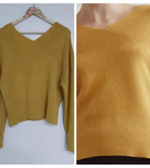 MANGO crop pulover, M/L, ukj. Tisak