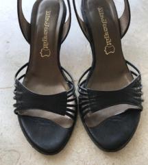 Crne kožne sandale broj 36