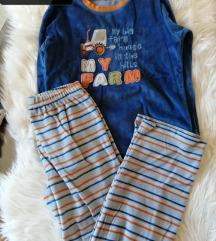 Komplet zimska plišana pidžama za dječake