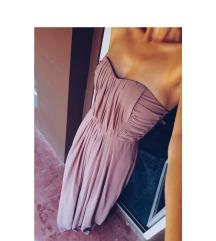Duga svecana prljavo roza haljina / novo / H&M