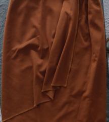 Bellissima camel skirt with wheel /volanom S NOVO