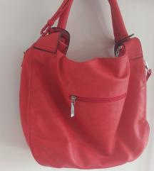 Velika crvena ručna torba