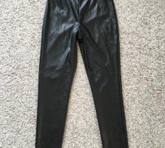 Crne Kožne tajice liquid leggings vel XS