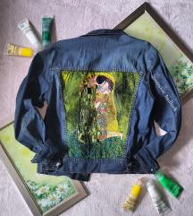 Klimt ručno oslikana traper jakna