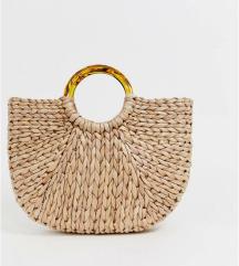 Pletena torba asa kornjacevinom drškom