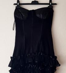 Tally Weijl ženska crna korzet tunika/haljina