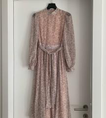 Cvjetna midi haljina dugih rukava