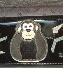 Novčanik crni kožni Braccialini NOVI