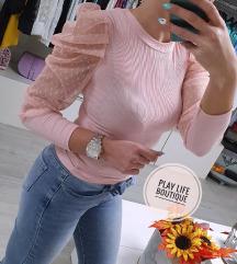 Nova roza majica s puf rukavima