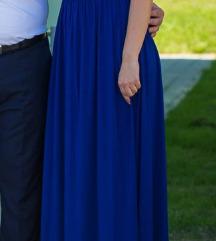 SNIZENJE! Kraljevsko plava duga haljina