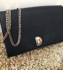ZARA torbica preko ramena - tamnoplava