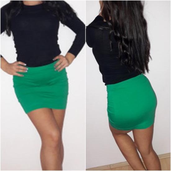H&M zelena suknja
