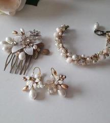 Lota Art nakit (naušnice, narukvica i ukosnica)