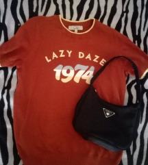 Lazy daze narančasta majica %%%