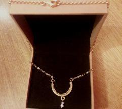 Pozlaćena srebrna ogrlica konavoski nakit