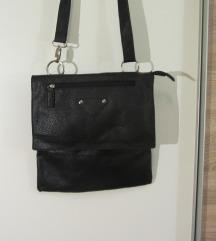 Crna kožna torba, unisex