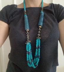 Tirkiznoplava etno ogrlica