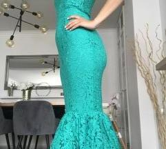 Asos green haljina