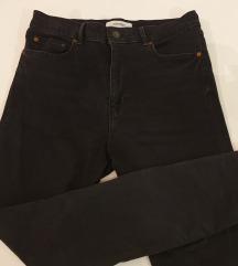 ZARA tamno sive traperice visokog struka, 40-42