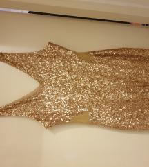 Zlatna sljokicasta haljina