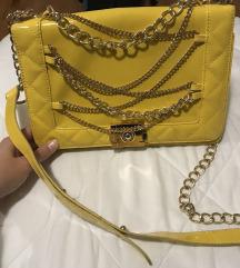 Žuta torbica like Chanel le boy