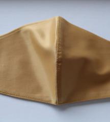 Ručno rađena zlatna satenska maska za lice