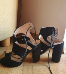 Ljetne sandale na petu 38 veličina, gaziste 24 cm