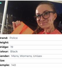 POLICE mat crne dioptrijske naočale UNISEX🤓/-1,25