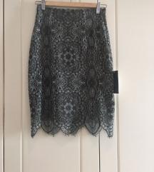 Zara tamnozelena suknja
