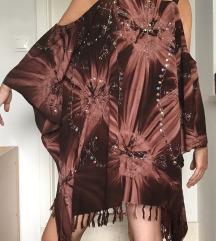 Haljina za plazu izvezena i sa perlicama