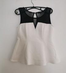 Bijela bluza s crnim detaljima