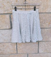 H&M skater bijela suknja od čipke - NOVO