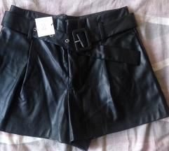 Zara kožne kratke hlače