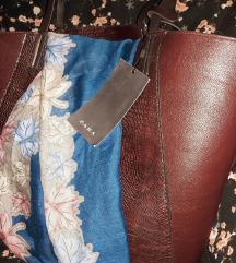 Zara torba kožna - casual