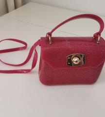 Ružičasta gumena torbica