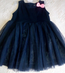 Crna haljina s tilom 104