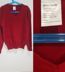 Pamučni  pulover s V izrezom