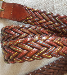 Remen kožni pleteni