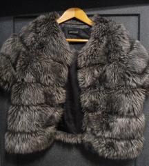 krznena jakna siva L/XL