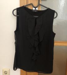 Orsay crna bluza s volanima