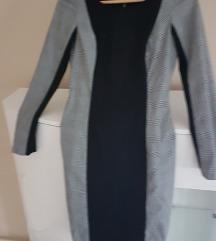 Orsay uska pencil crna siva karirana haljina