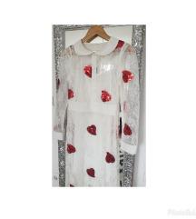 Nova bijela cipkasta haljina sa aplikacijama