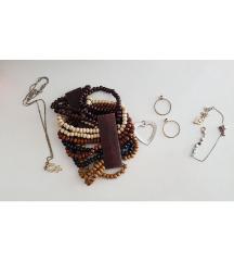 Lot narukvica, prsteni, ogrlica