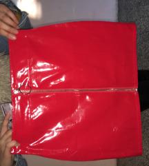 Lateks crvena suknja